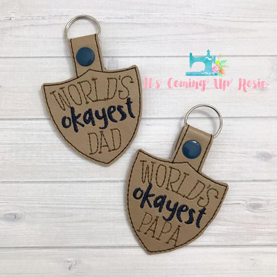 World's Okayest Dad/Papa Keychain