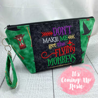 Flying Monkeys Zipper Bag