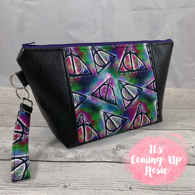 Harry Potter Deathly Hallows Graffiti Zipper Bag
