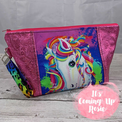 Lisa Frank Unicorn Zipper Bag