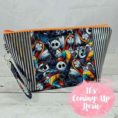 NBC Jack & Sally Stripe Zipper Bag