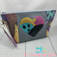 NBC Sally Rag Heart Zipper Bag