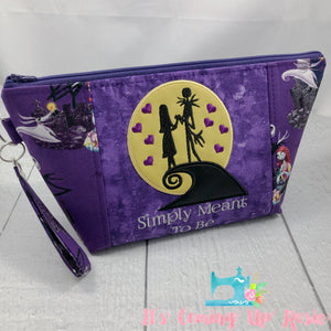 NBC Jack & Sally Simply Meant To Be Zipper Bag