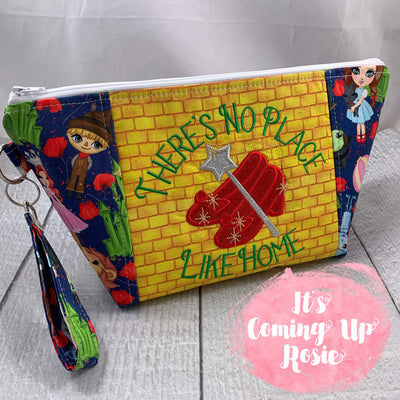 There's No Place Like Home Zipper Bag - IN STOCK!