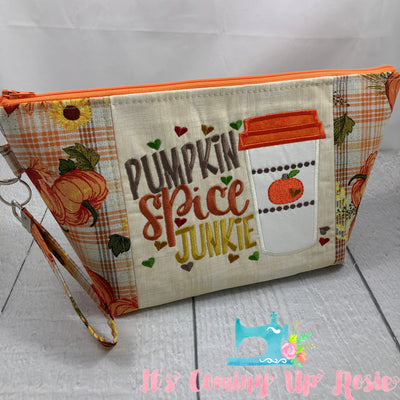 Pumpkin Spice Junkie Zipper Bag - IN STOCK!