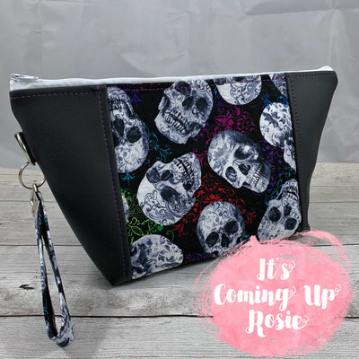 Skull Swirl Zipper Bag