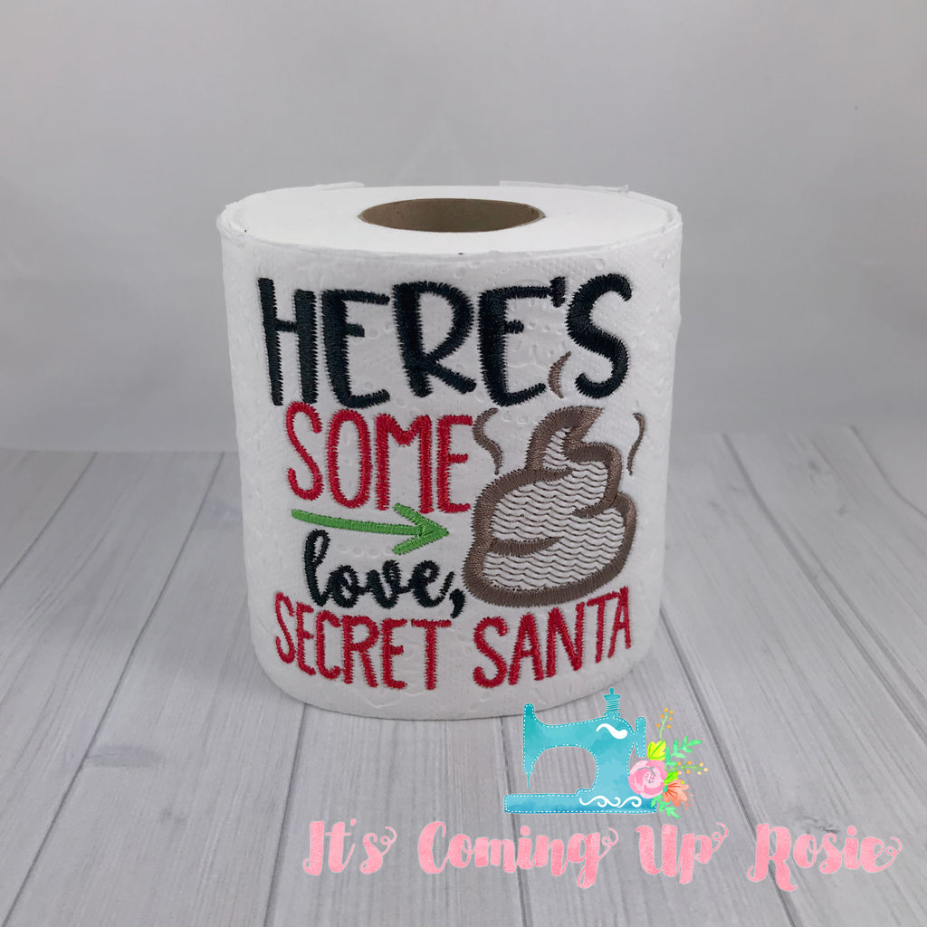 Here's Some Crap Love, Secret Santa - Novelty Toilet Paper