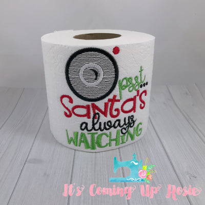 Santa's Always Watching - Novelty Toilet Paper