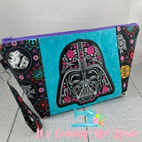 Star Wars Darth Vader Sugar Skull Zipper Bag - Blue - PREORDER
