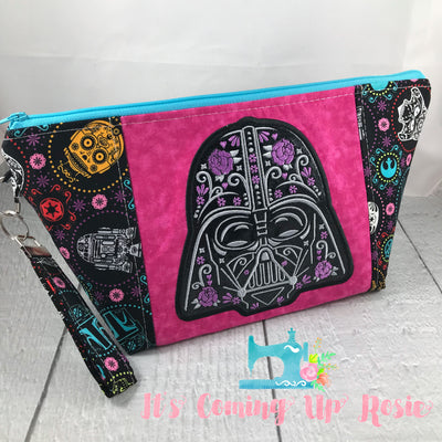 Star Wars Darth Vader Sugar Skull Zipper Bag - Pink - PREORDER