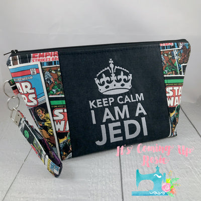 Star Wars Keep Calm I'm A Jedi Zipper Bag