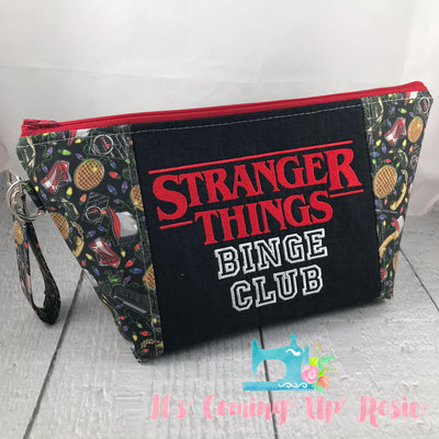 ** LIMITED EDITION ** Stranger Things Binge Club Zipper Bag - IN STOCK!
