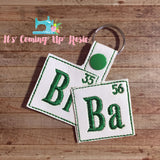 """BrBa"" Breaking Bad Keychain"