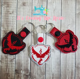 Pokemon Red Team Keychain