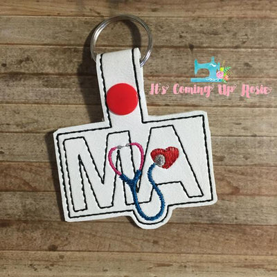 MA Medical Assistant Keychain