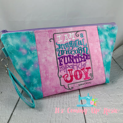 Unicorn Sparkle of Joy Zipper Bag