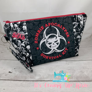 Zombie Apocalypse Survival Kit Zipper Bag