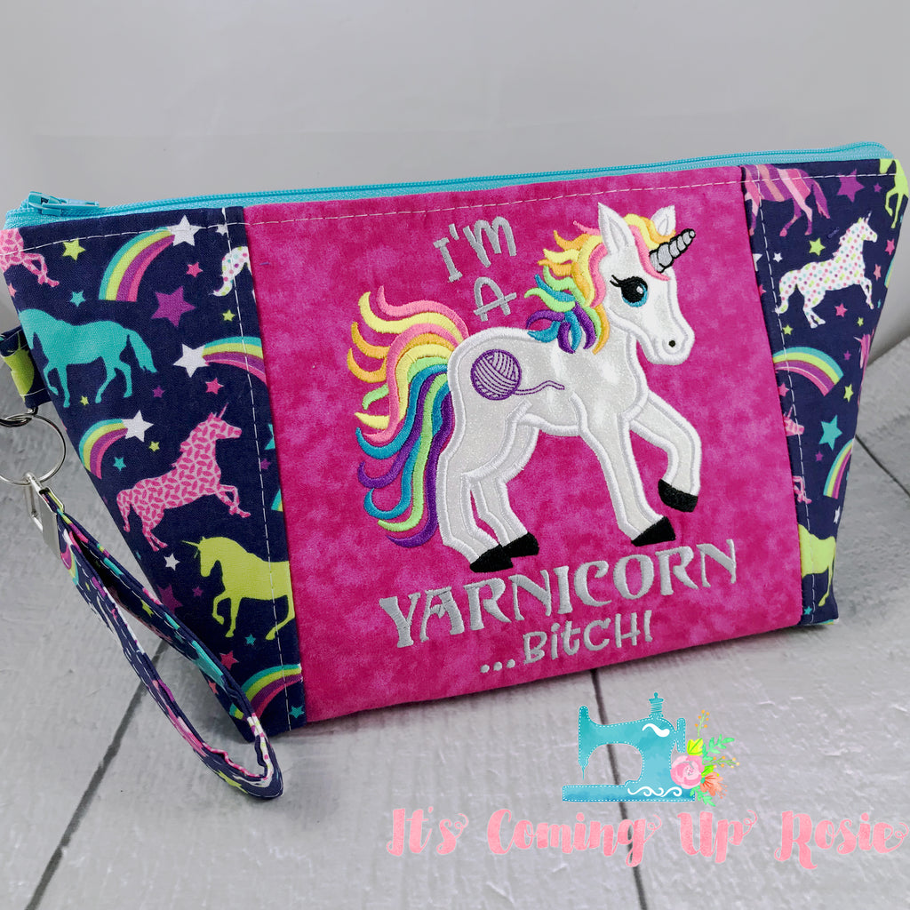 ** MATURE ** I'm A Yarnicorn...! Zipper Bag - PREORDER