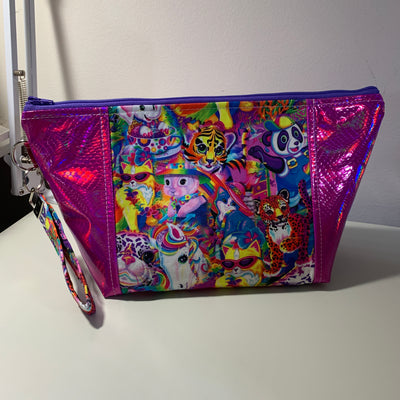 Lisa Frank Holographic Zipper Bag
