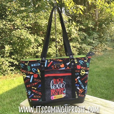 Teach Love Inspire Teachers Tote - IN STOCK!