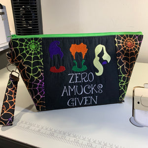 ** PREORDER ** Zero Amucks To Give Hocus Pocus Zipper Bag