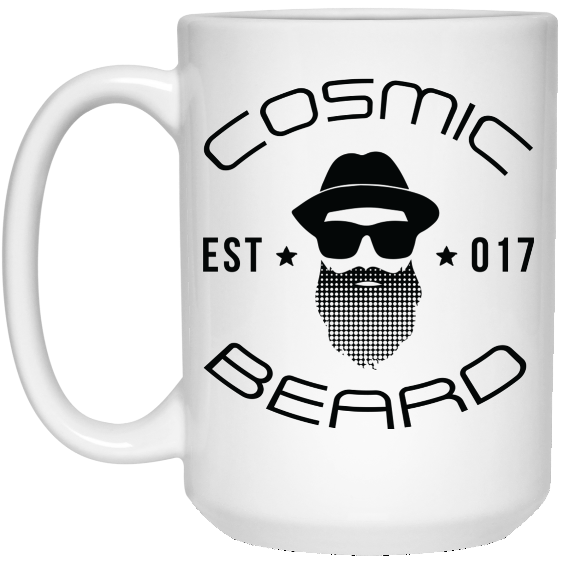 Cosmic Beard Branded 15 oz. White Mug