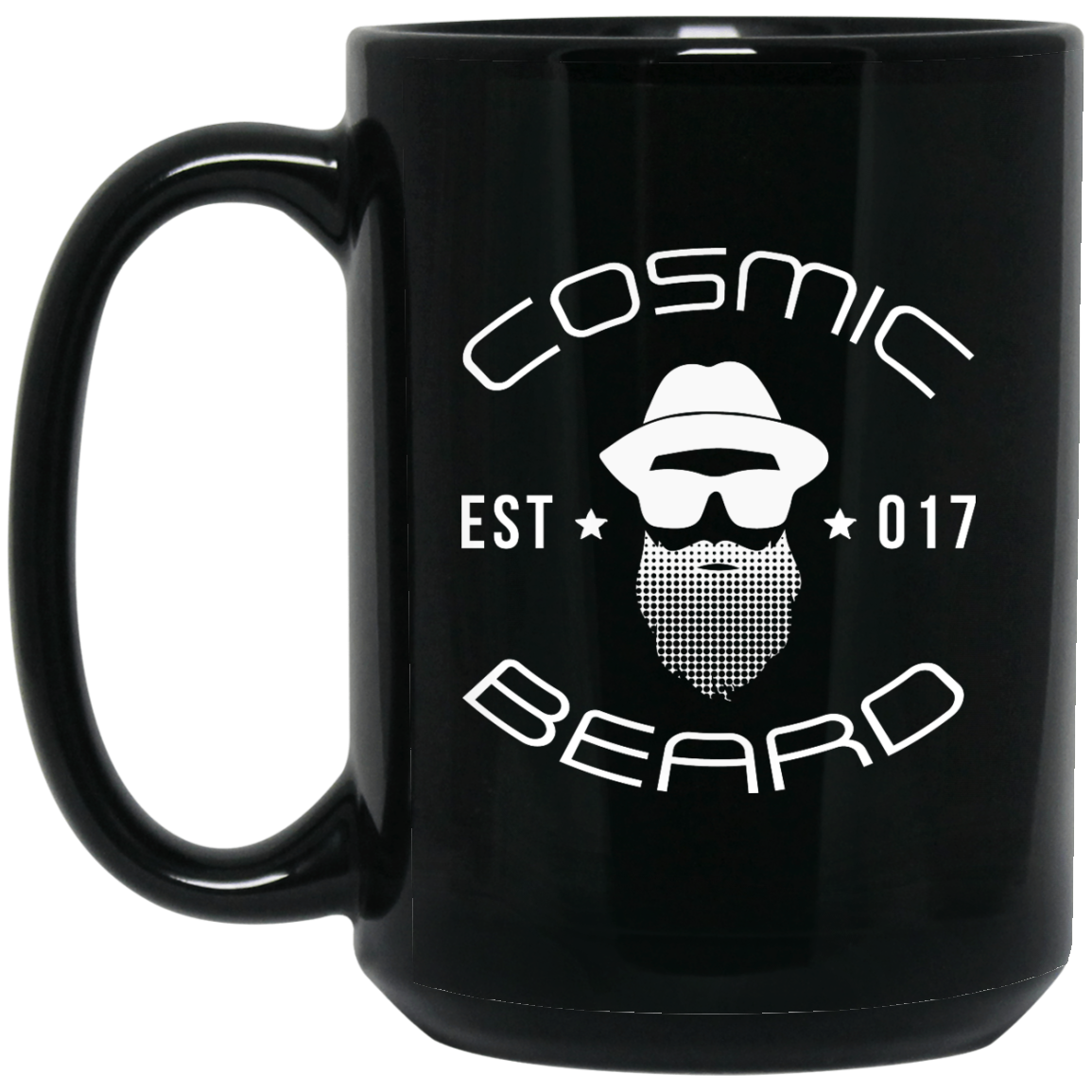 Cosmic Beard Branded 15 oz. Black Mug