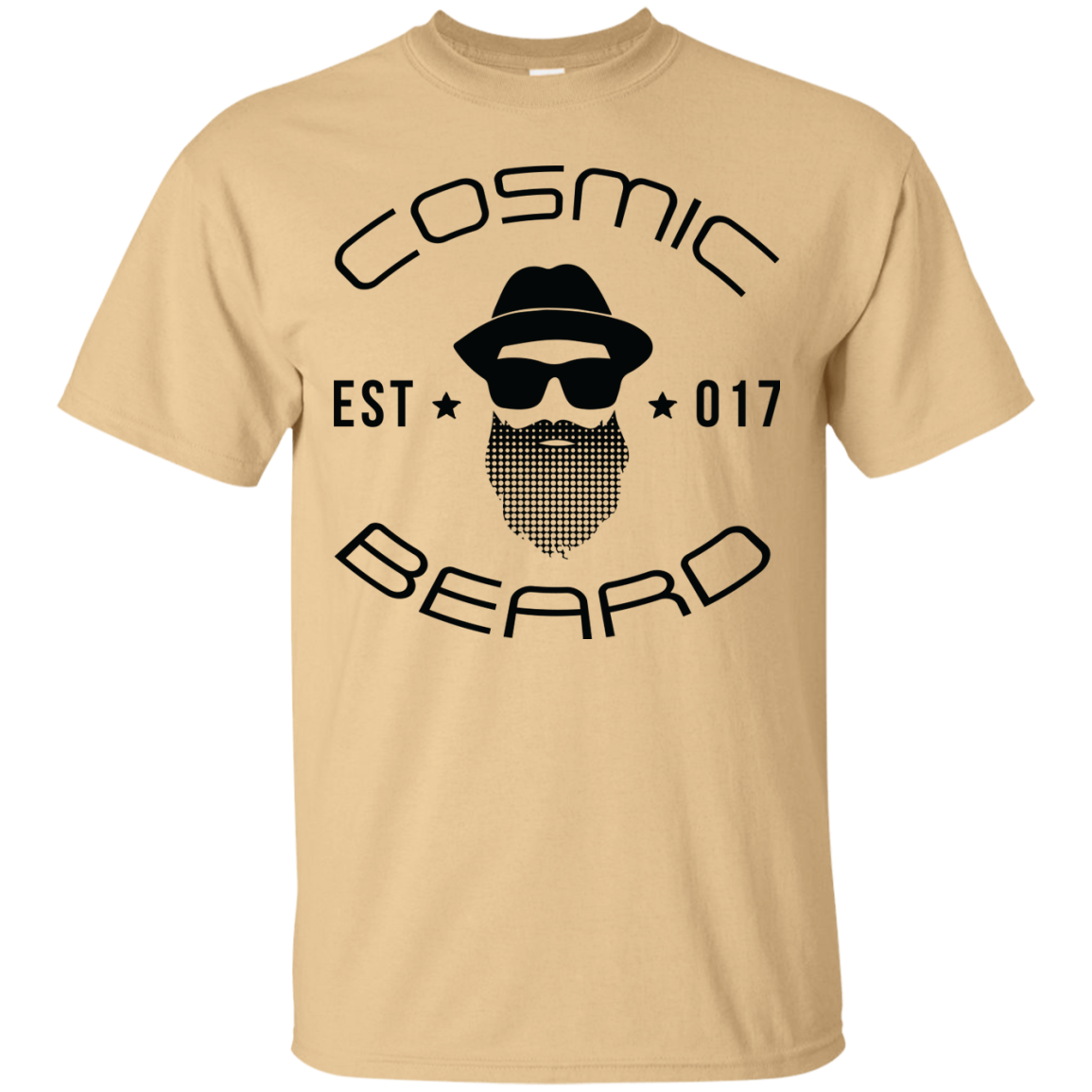Cosmic Beard Branded T-Shirt with Black Logo