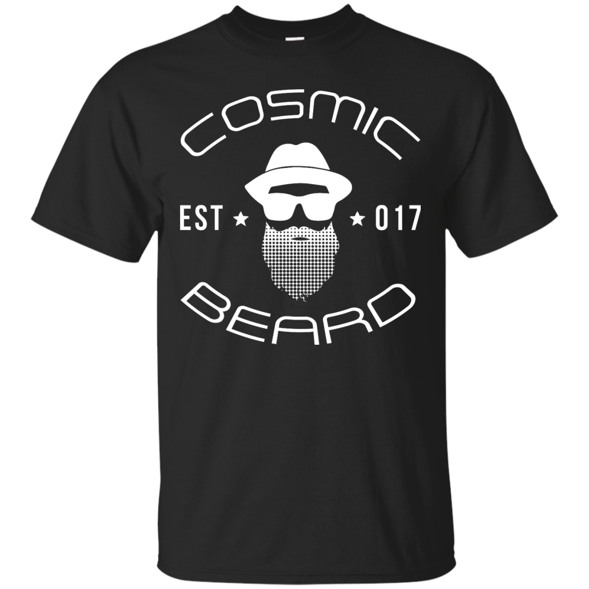 Cosmic Beard Branded T-Shirt with White Logo
