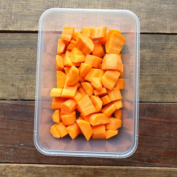 Pre Cut Fresh Carrots (Per 250g) Homegrown Organics (The Home of Purple Corn) : No Minimum Order