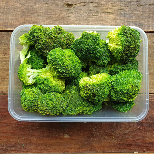 Pre Cut Fresh Broccoli (Per 150g) Homegrown Organics (The Home of Purple Corn) : No Minimum Order