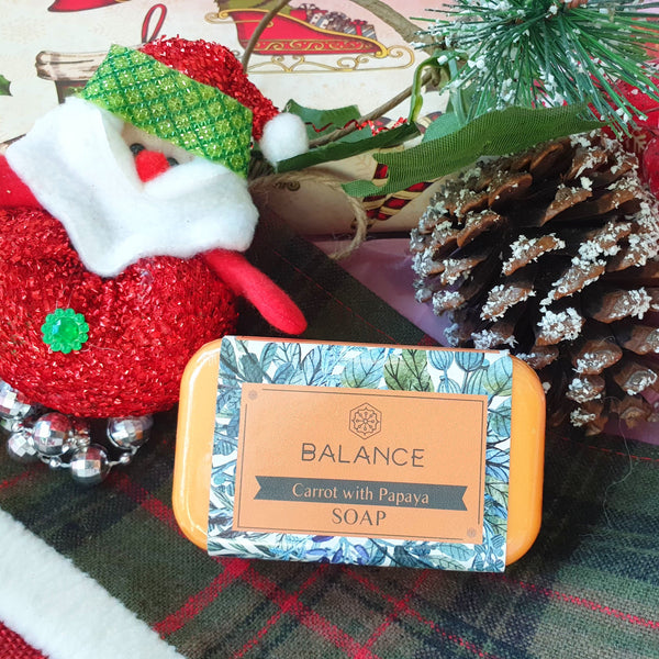 Balance All Natural Soap: Carrot with Papaya (130g) Homegrown Organics (The Home of Purple Corn) : No Minimum Order