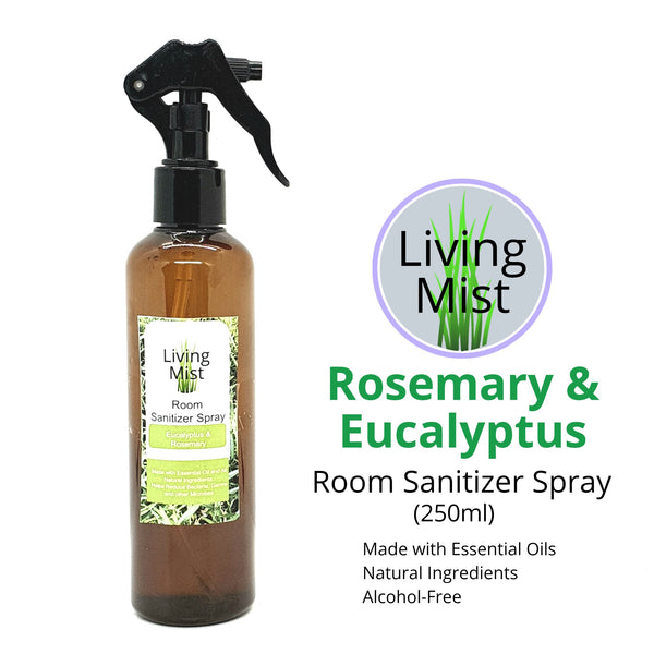 All Natural Air Freshener: Eucalyptus & Rosemary (200 ml) Homegrown Organics (The Home of Purple Corn) : No Minimum Order