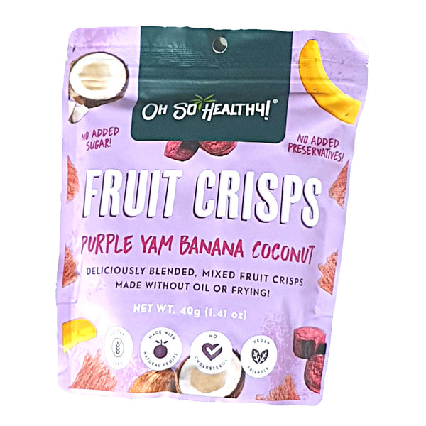Oh So Healthy! Fruit Crisps - Purple Yam Banana Coconut (40g) Homegrown Door-to-Door Fresh from the Farm Delivery