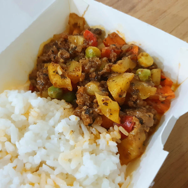Giniling Guisado with Rice by Chef Jeremy (Per meal) Homegrown Door-to-Door Fresh from the Farm Delivery