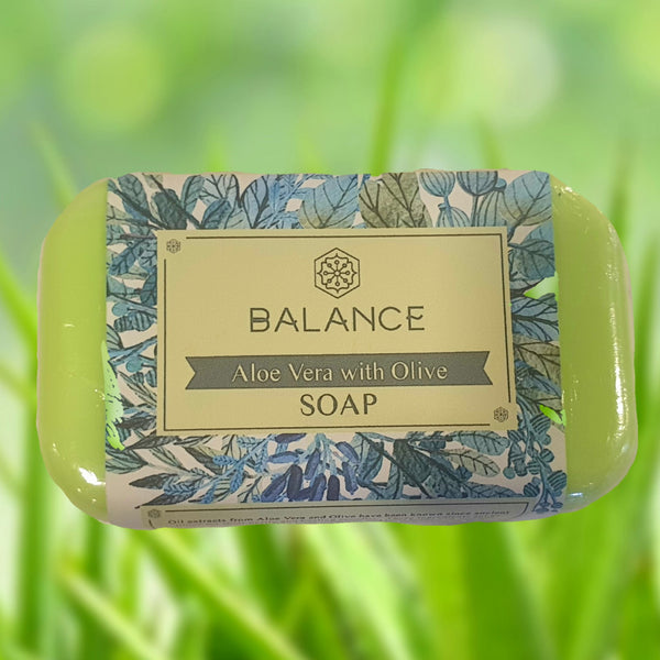 Balance All Natural Soap: Aloe Vera with Olive (130g) Homegrown Organics (The Home of Purple Corn) : No Minimum Order