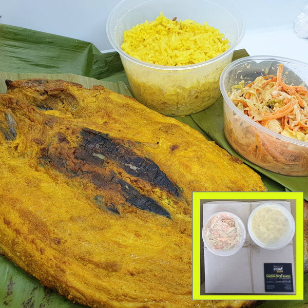 Project Food, Tandoori Bangus With Basmati Rice and Sides (1 set) Homegrown: Fresh Food, Groceries, Plants and More!