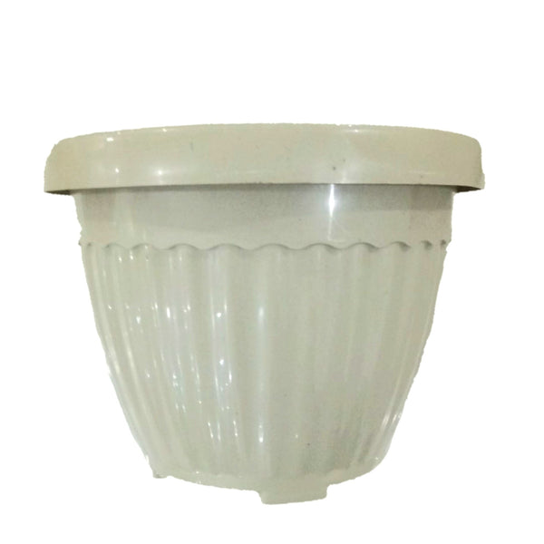 Hard Pot. Herb/Indoor Medium White, Plastic, Round, 5 inches (Per piece) Homegrown: Fresh Food, Groceries, Plants and More!