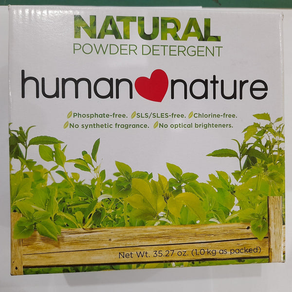 Natural Powder Detergent by Human Nature (1kg) Homegrown: Fresh Food, Groceries, Plants and More!