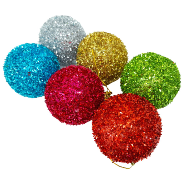 Glittery Balls, Christmas Decor, 2inches up diameter (6pcs) Homegrown: Fresh Food, Groceries, Plants and More!