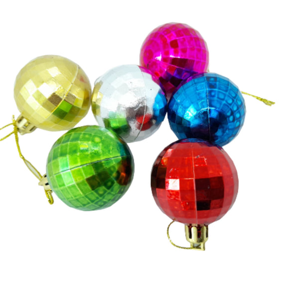 Metallic Balls, Christmas Decor, 2inches up diameter (6pcs) Homegrown: Fresh Food, Groceries, Plants and More!