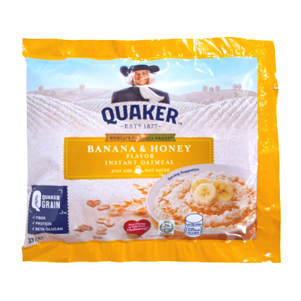 Quaker Instant Oatmeal,Banana Honey,33g (per piece) Homegrown: Fresh Food, Groceries, Plants and More!