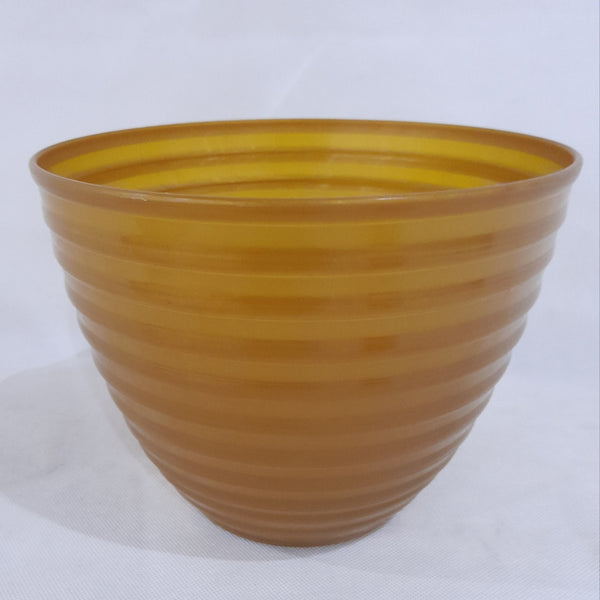 Hard Pot,Gold Horizontal stripes,, 8x6inches (per piece) Homegrown: Fresh Food, Groceries, Plants and More!