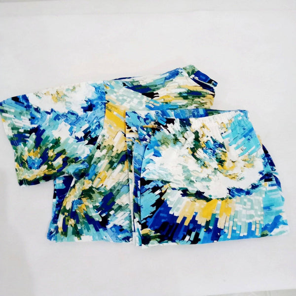 Terno Pajama,Blue Tie Dye Design,Free size (per pair) Homegrown: Fresh Food, Groceries, Plants and More!