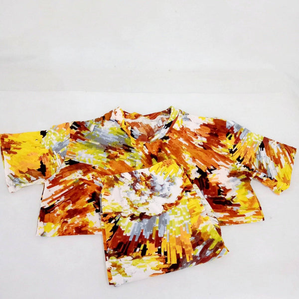 Terno Pajama,Yellow Tie Dye Design,Free size (per pair) Homegrown: Fresh Food, Groceries, Plants and More!