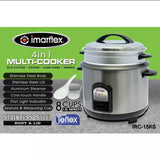 Imarflex 4 in 1 Multi Cooker,Model IRC-15KS (per piece) Homegrown: Fresh Food, Groceries, Plants and More!