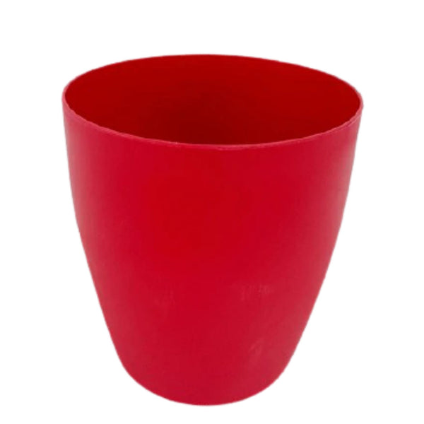 Christmas Plant Pot or Vase, Red,Plastic, 6.5x7inches (per piece) Homegrown: Fresh Food, Groceries, Plants and More!
