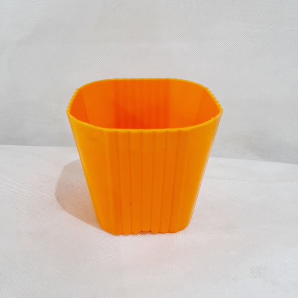 Corrugated Succulent Pot, Orange,Plastic, 2x3 Inches (per piece) Homegrown: Fresh Food, Groceries, Plants and More!