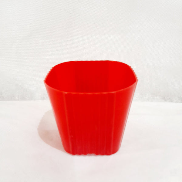 Corrugated Succulent Pot, Red,Plastic, 2x3 Inches (per piece) Homegrown: Fresh Food, Groceries, Plants and More!