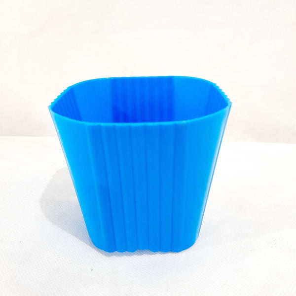 Corrugated Succulent Pot, Blue,Plastic, 2x3 Inches (per piece) Homegrown: Fresh Food, Groceries, Plants and More!
